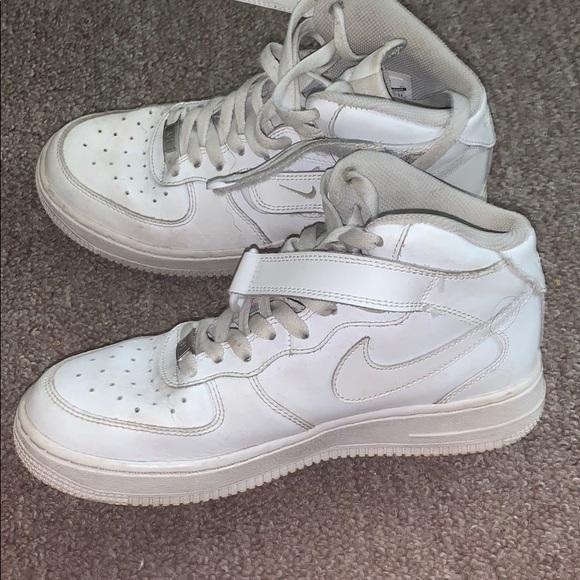 white nike high tops air force ones